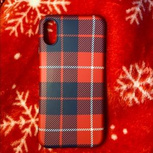 iPhone X plaid case (red)♥️